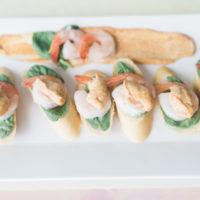 shrimp and spinach crostini