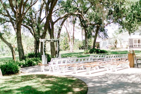 outdoor ceremony space at Up the Creek Farms