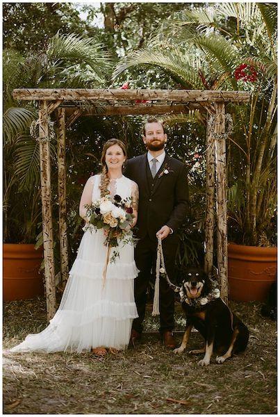 Dog Friendly Weddings Near Vero Beach Bride And Groom With Rustic Outdoor Wedding